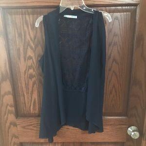 Maurices sheer navy vest , medium
